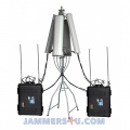 650W Powerful UAV Drone Jammer RC 2.4Ghz 5.8Ghz GPS 433Mhz 900Mhz up to 8km