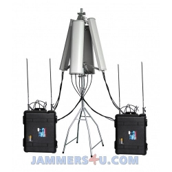 CT-8078ATW-HGA High Power 640W Drone Portable Jammer 180 Degree 2.4Ghz 5.8Ghz GPS L1 L2 433Mhz 900Mhz up to 6000m
