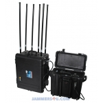 CT-6067-UAV Drone 6 bands High power 520W Portable Pelican case Jammer up to 4000m