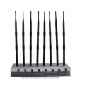 8 Antenna 5G LTE 5Ghz 2.4Ghz WIFI 3G 4G 60W Jammer up to 80m