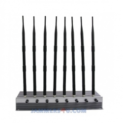 CT-2085H EUR 8 Antennas 60W Mobile 3G 4G WiFi 2.4Ghz 5Ghz 11a/b/gn Jammer up to 80m