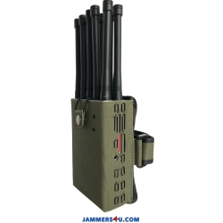 CT-1010 EUR 10 Antennas 10W GSM 2G 3G 4G GPS L1 L2 RC433 868 315Mhz WIFI Jammer up to 30m