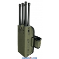 6 Antennas 7.0W Handheld Jammer 3G 4G WIFI up to 30m