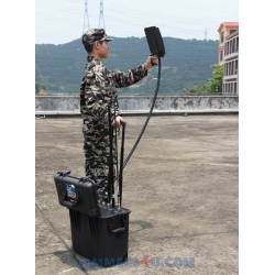 CT-3076B15W-UAV Anti-Drone High Power 147W Jammer 6 Bands up to 1500m
