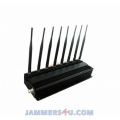 CT-2085 A WIFI 2.4Ghz 5Ghz WiMax GSM Cell 2G 3G 4G WiMax 8 Antennas 17W Jammer up to 50m