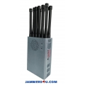 12 Band 12W Handheld Jammer 3G 4G GPS RC WIFI up to 30m