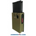16 Antenna 16W All-in-one 5G 5Ghz 3G 4G LTE GPS RC WIFI UHF Drone Jammer up to 30m