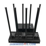 CT-3080N A 175W 8 Antenna GSM 3G 4G 2.4Ghz UHF VHF RC GPS Jammer up to 150m