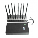 8 Antenna 76W Jammer 3G 4G WiFi GPS up to 80m