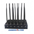 12 Antenna 5G LTE 5Ghz WIFI 3G 4G GPS UHF VHF 27W Jammer up to 50m