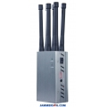 6 Antenna 2.8W Handheld Jammer 3G 4G WIFI up to 20m