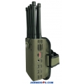 8 Antenna 8.0W Handheld Jammer 3G 4G GPS RC433 868Mhz WIFI up to 30m