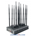 12 Antenna 5G 4G 5Ghz WiFi GPS UHF VHF 90W Jammer up to 80m