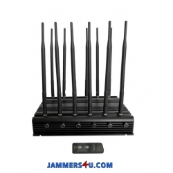 12 Antenna 5G 5Ghz 2.4Ghz 4G 3G RC GPS 35W Jammer up to 50m