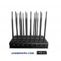 16 Antenna 5G 4G 5Ghz WIFI GPS RC UHF VHF 46W Jammer up to 50m