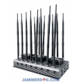 16 Antenna 5G LTE 5Ghz WIFI 3G 4G GPS UHF VHF 119W Jammer up to 80m
