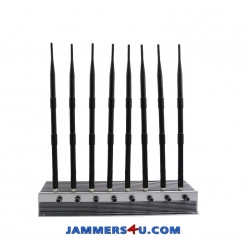 8 Antenna 5G 4G LTE 3G WIFI 60W Jammer up to 80m