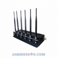 CT-2060 EUR 6 Antenna 16W GSM 2G 3G 4G 2.4Ghz WiFi Jammer up to 50m
