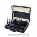 CT-2080B A 8 Bands 21W CDMA 2G 3G 4G WIFI 2.4Ghz UHF VHF GPS RC Lojack Briefcase Jammer up to 50m