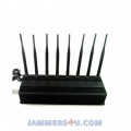 CT-2080 8 Antenna 22W 3G 4G WIFI UHF VHF RC GPS Lojack Jammer up to 50m