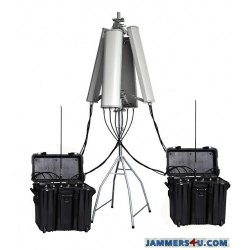 UAV Drone Portable Jammer 7 Bands 178W up to 3000m