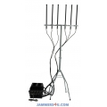 6 Antenna Bands 135W Outdoor Waterproof Jammer 3G 4G 5G WiFi up to 400m