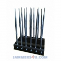CT-2095 EUR R 5Ghz 2.4Ghz WiFi GSM 2G 3G 4G GPS Lojack RC 433 315 868Mhz VHF UHF 12 Antenna Jammer up to 50m