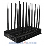 CT-2516 EUR 16 Bands 38W GSM CDAM 3G 4G 2.4Ghz 5Ghz GPS UHF VHF Jammer up to 50m