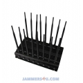 16 Antenna 5G LTE 4G 5Ghz WIFI GPS UHF VHF 37W Jammer up to 50m