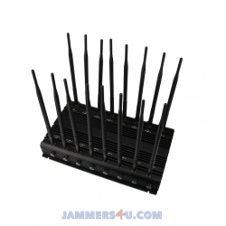 CT-2016 EUR RG 42W 16 Bands GSM 3G 4G WIFI RC Lojack GPS L1-5 Jammer up to 50m