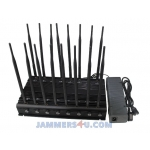 CT-2016 R LB 45W 16 Antennas Low Bands 130-990Mhz CDMA GSM GPS RC Lojack VHF UHF JAMMER up to 50m