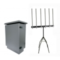 Outdoor Drone RC 525W 6 Band Jammer with Software power level up to 4km