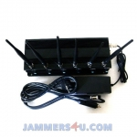 CT-2060 EUR 6 Antenna 16W GSM 3G 4G WiFi Jammer up to 50m