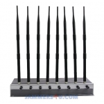 CT-2080H A 8 Antenna 76W CDMA 2G 3G 4G 2.4 WiFi GPS UHF VHF Jammer up to 80m