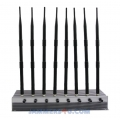 CT-2080H A 8 Antennas 8-10W per band 76W CDMA 2G 3G 4G 2.4 WiFi GPS UHF VHF Jammer up to 80m