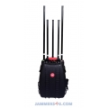 CT-4035 Man Pack CDMA GSM 3G WIFI GPS 5 Antennas 75W Jammer up to 100m