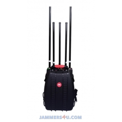 CT-4035VU 5 Antennas 95W Man Pack VHF UHF CDMA GMS 2G 3G Jammer with Built-in Battery. Jamming up to 100m