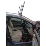 CT-3077B CAR 7 Antennas 155W GPS L1 L2 R Controls 900 868 433 315Mhz Lojack UHF VHF WIFI Jammer up to 150m
