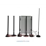 6-8 Omni Antennas Outdoor Jammer 4G 5G WiFI up to 150m