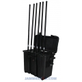 CT-3086B 135W Portable built-in battery Mobile Phone 6 Bands Pelican Jammer up to 150m