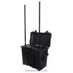 CT-24100G UAV Drone High Power 140W 2.4Ghz GPS Portable Case Jammer up to 4000m