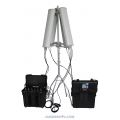 6-7 Band 128-190W Drone Portable Jammer 2.4Ghz 5.8Ghz GPS 433Mhz up to 3km