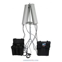 CT-3076B-HGA Anti-Drone UAV Jammer 6 Bands 128W up to 3000m