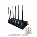 CT-2060 A 6 Antennas 15W 2.4Ghz WiFi CDMA 2G 3G 4G Jammer up to 50m