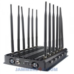 CT-2095 A WIFI 5Ghz 2.4Ghz CDMA 3G 4G GPS L1 L2 VHF UHF 27W 12 Antenna Jammer up to 50m