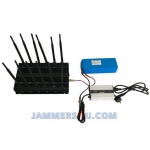 CT-2095 EUR WIFI 5Ghz 2.4Ghz GSM 3G 4G GPS L1 L2 VHF UHF 28W 12 Antenna Jammer up to 50m