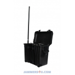 CT-24100W WIFI 11b/g/n 2.4Ghz High power 100W portable case Jammer up to 4000m