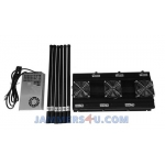 CT-3060N-UAV Drone 6 bands RC 433Mhz 900Mhz 2.4Ghz 5.8Ghz GPS 127W Jammer up to 800m