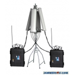 CT-3077B-HGA Anti-Drone UAV Portable Jammer 7 Bands 178W up to 3000m
