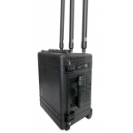 Portable Anti RC Bomb IEDs 600W 12 Bands 20MHz to 6GHz Jammer up to 300m